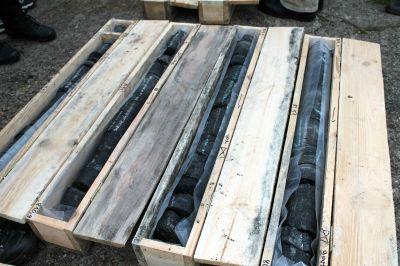 Kohle-Bohrkernproben Prairie Mining