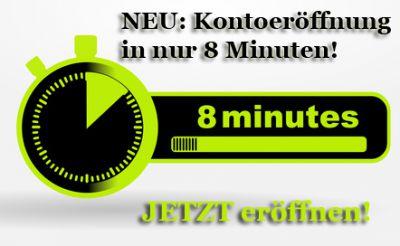 JETZT direkt online das Konto ohne Schufa innerhalb von 8 Minuten eröffnen