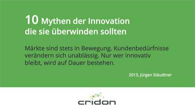 "Kostenloses e-Book ""10 Mythen der Innovation"""