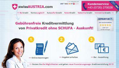 www.swissAUSTRIA.com - Kredite ohne Kreditvermittler Kosten