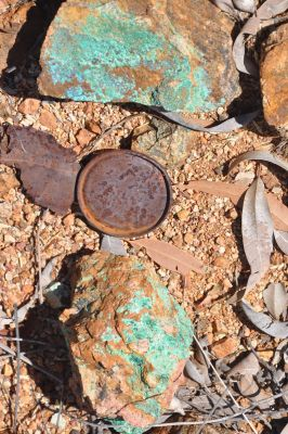 Malachit Kupfergestein hoch mineralisiert, Altona Mining, Australien