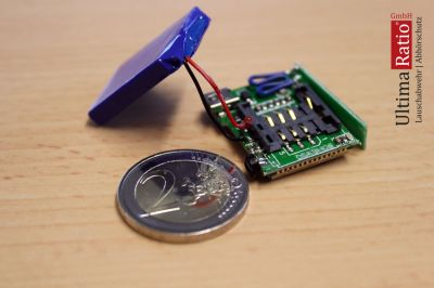Anrufbare Wanze mit SIM Kartenhalter in Münzgröße
