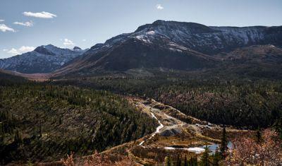 Das Gebiet von Keno Hill im Yukon; Foto: Metallic Minerals
