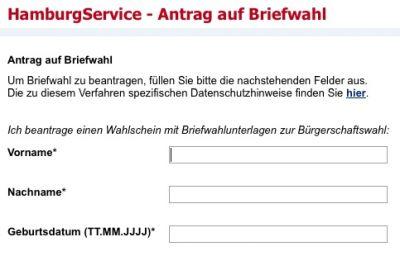 1,3 Millionen Wahlberechtigte können ihre Briefwahlunterlagen für die Hamburger Bürgerschaftswahl online anfordern.