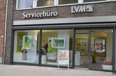 Das LVM Stadtbüro in der hkk (von außen)