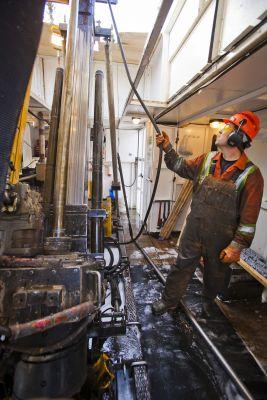 Explorationsbohrung nach Gold bei Treasury Metals, Kanada