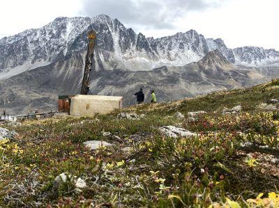 Bohrung auf dem Estelle-Projekt; Foto: Nova Minerals