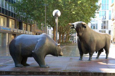 Bulle und Bär in Frankfurt