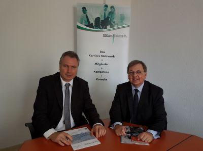 Foto: v.l.n.r.: Heinz Leymann (IfKom), Dr. Ulrich Goldschmidt (DFK)