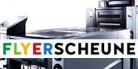 Das Logo der umwelbewussten Druckerei Flyerscheune