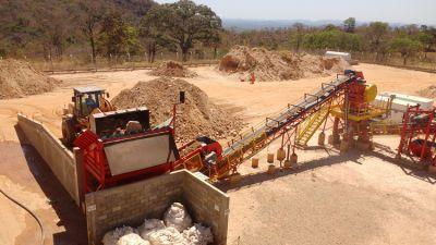 Auf der Cascavel-Mine; Foto: Orinoco Gold