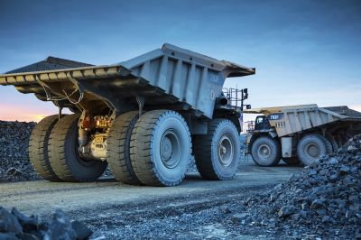 Osisko Malartic Mine, Transport LKW