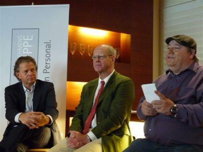 v.l.n.r.: Daniel Goffart, Ottheinrich von Weitershausen und Alexander Spies auf der PEAG PERSONALDEBATTE zum FRÜHSTÜCK in Berlin