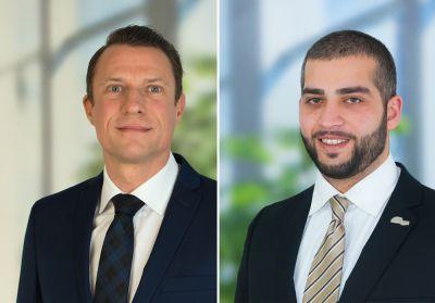 Daniel Wagner, neuer Vertriebsleiter und Maklerbetreuer bei der AMEXPool AG und sein Mitarbeiter Gökhan Coban (Foto: Dirk Dölker)