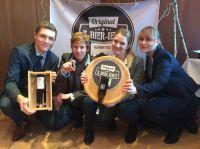 Preisträger (Marketing-Preis) X-Bier-ience beim Projekt 5 Euro StartUp der htw saar