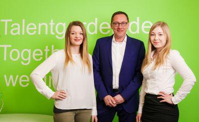 V.l.n.r: Juliana Bohschke, Disposition; Jörg Stannek, Geschäftsführer; Philomena Schweizer, Niederlassungsleitung