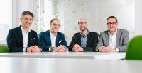 Foto: David Klein, v.l.nr. Sibu Aminian, Marco Feuchter, Karl Hacker, Jörg Stannek