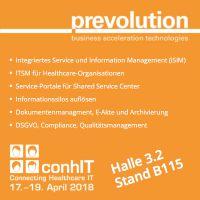 Prevolution zeigt auf der conhIT 2018 integriertes Service- und Information-Management für Healthcare