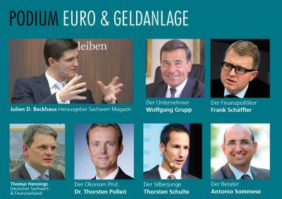 Gastgeber Julien Backhaus und Thomas Hennings diskutieren mit prominenten Experten in Frankfurt/Main