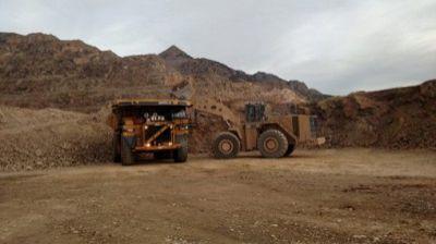 Rye Patch Gold Bergbaufahrzeuge