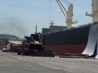 Konzentratverladung Cyprium im Hafen von Manzanillo