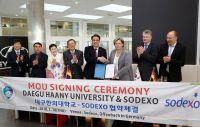 Sodexo und Südkoreas Daegu Haany Universität schließen Kooperationsabkommen