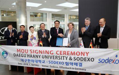 Sodexo und die südkoreanische Daegu Haany Universität intensivieren ihre Ausbildungspartnerschaft. Bild: Sodexo, T. Zimmermann