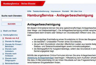 Die Anliegerbescheinigung ist ein Beispiel für das neue Antrags- und Fallmanagement der Stadt Hamburg.
