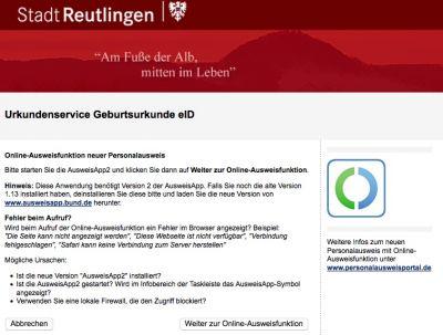 cit stellt die Basis für die Nutzung der Online-Ausweisfunktion des Personalausweises in Reutlingen zur Verfügung.