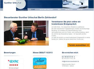 Webseite von Gunther Urbschat aus Berlin