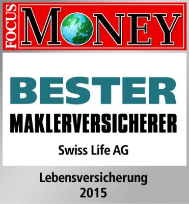 "Swiss Life ist ""Bester Maklerversicherer 2015""."