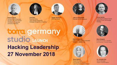 Auswahl der SpeakerInnen beim Hacking Leadership Event von Boma Germany, 27.11.18