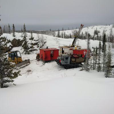 Winterbohrungen TerraX Minerals