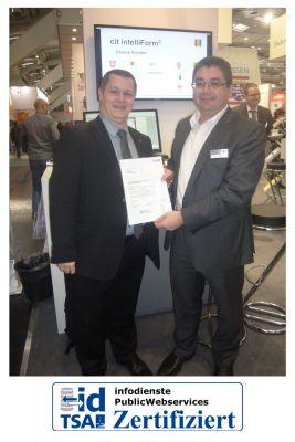 cit intelliForm wurde für den TSA-Zuständigkeitsfinder zertifiziert