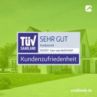 """TÜV-geprüfte Baufinanzierung:  creditweb erhält erneut die TÜV-Auszeichnung """"SEHR GUT"""""""