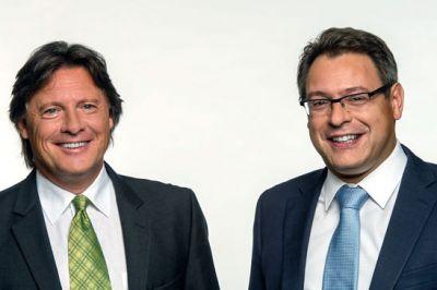 Helmut Gawlik (l.) und Alexander Doukas (r.) mit doppelter Kraft auf erfolgreichem Kurs.