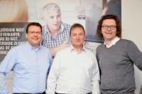 WEKA-Geschäftsführer Michael Bruns, Werner Pehland und Stephan Behrens stellen die Strategie 2019 vor