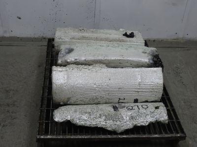 Klondex Mines produzierte Silberbarren,Nevada